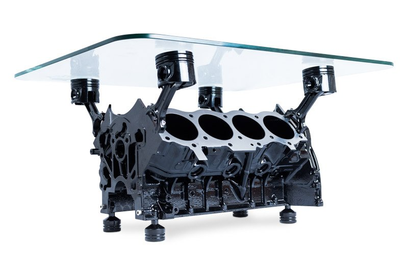 Rover V8 Engine Coffee Table By Engine Table Uk