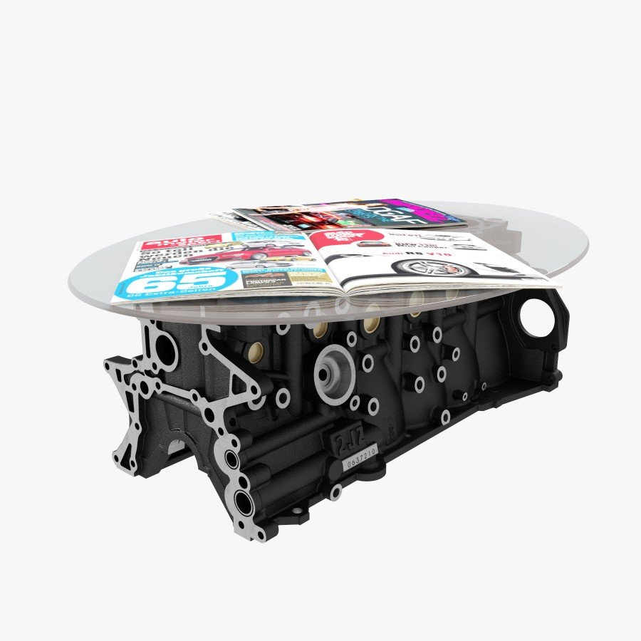 4 Cylinders Engine Coffee Table By Engine Table Uk