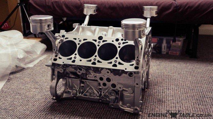 AUDI V8 CHROME ENGINE COFFEE TABLE