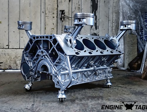 BMW V8 Engine Table – Advanced Model – Silver