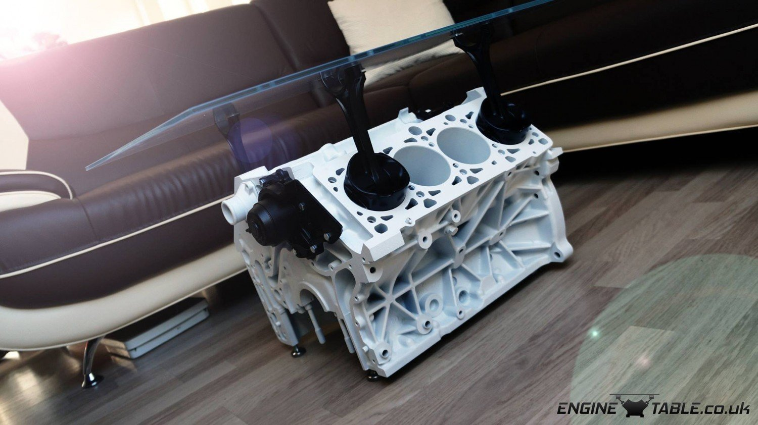 stunning audi v8 engine coffee table by engine table uk. Black Bedroom Furniture Sets. Home Design Ideas