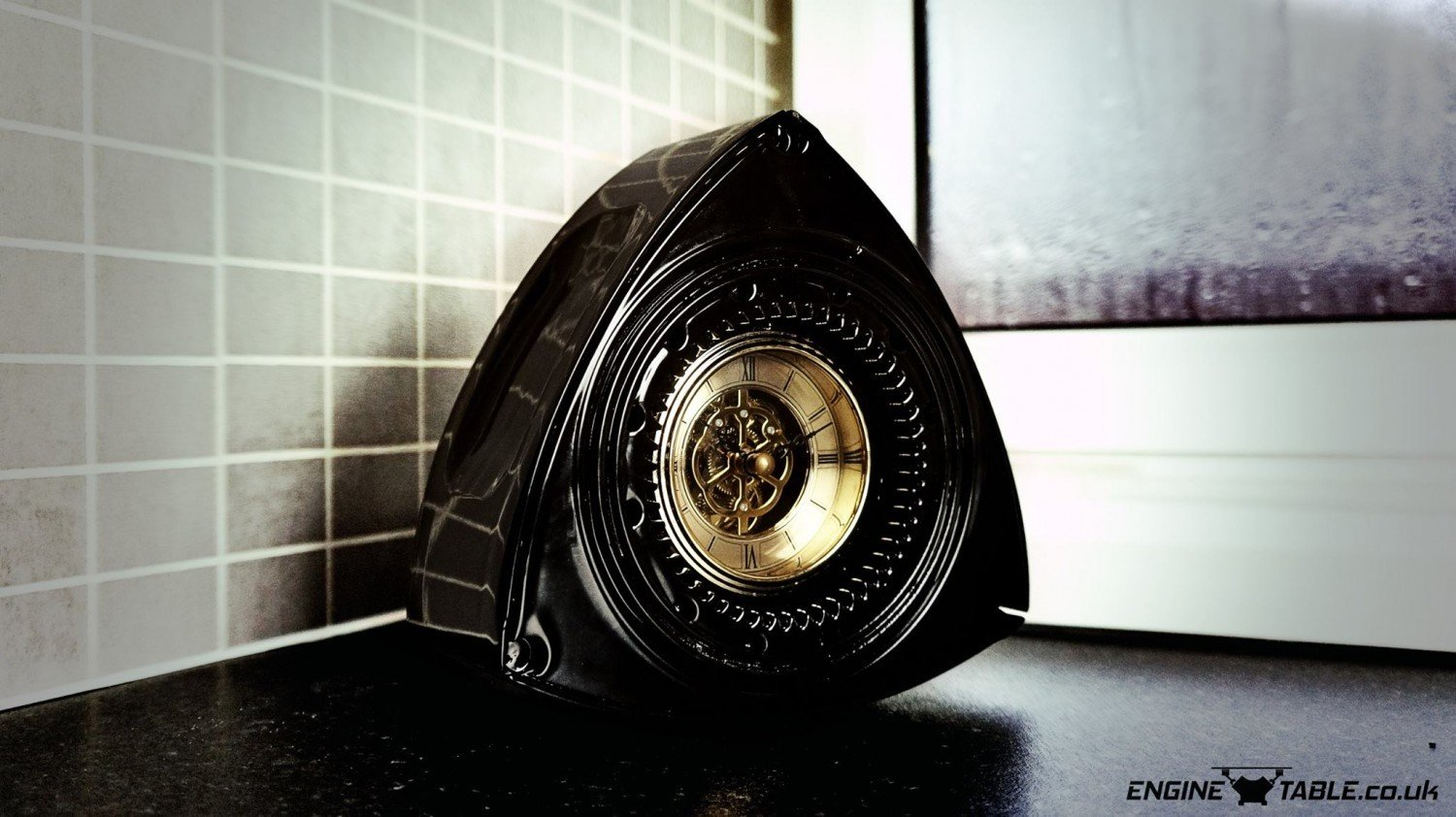 MAZDA RX8 192 GLOSS BLACK ROTOR CLOCK