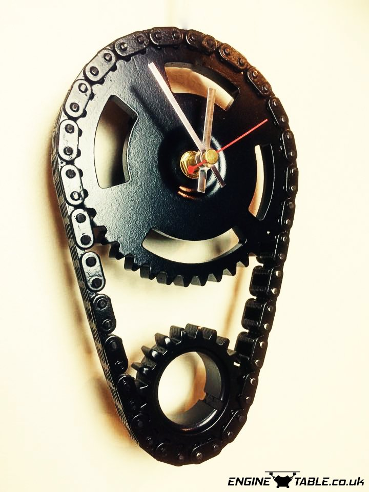 Amazing Wall Clock Timing Chain Clock By Engine Table Uk