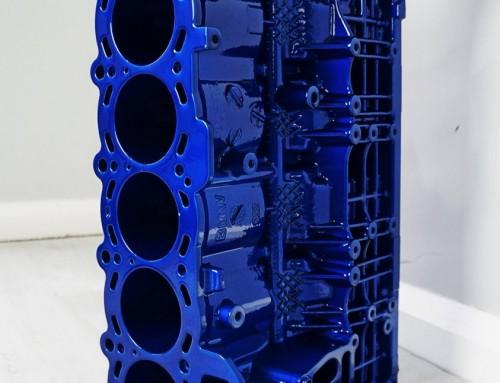 BMW Z4 Candy Blue Engine Wine Rack