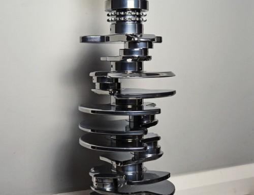 Vauxhall Satin Black Camshaft Lamp - Engine Table UK