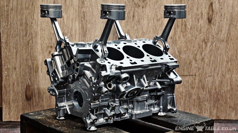 Jaguar V6 Silver Engine Table